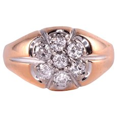 1.04 CTW Diamond Mens Ring