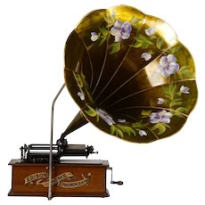Edison Floral Horn Home Phonograph