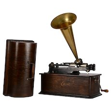 Edison Home Phonograph Oak Cabinet and Cover