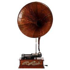 Edison Oak Cygnet Horn Cylinder Phonograph