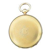 Swiss 18K Yellow Gold Pocket Watch by James Bonnet Neuchatel