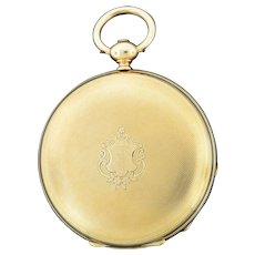 Swiss 18K Yellow Gold Pocket Watch by James Bonnet Neuchatel