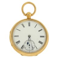 Open Face 18 Karat Yellow Gold Pocket Watch by Rob Crook