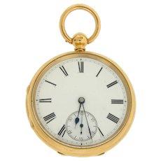 Open Face 18 Karat Yellow Gold Pocket Watch by Rob Crook