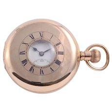 J W Benson Half Hunter Case Pocket Watch