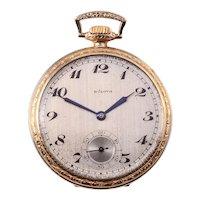 Bulova Open Face Gold Filled Pocket Watch