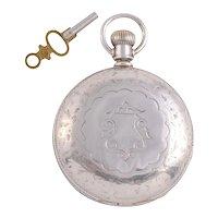 Rockford Silver Hunter Case Pocket Watch
