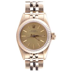 Ladies Rolex Oyster Perpetual 14K Wrist Watch