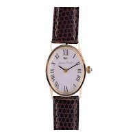 Lucien Piccard Solid 14 Karat Gold Ladies Wrist Watch