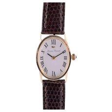 Lucien Piccard Solid 14 Karat Gold Ladies Wrist Watch