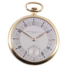 Patek Philippe Art Deco 18K Pocket Watch