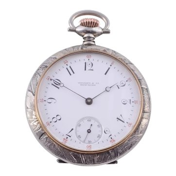 Tiffany & Co Silver Pocket Watch