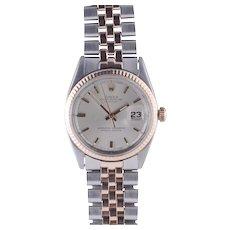 Rolex Datejust Stainless Steel & Rose Gold Wrist Watch