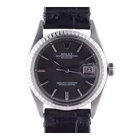 Rolex Datejust Charcoal Dial Wrist Watch