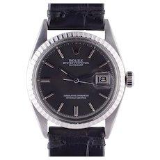 Rolex Datejust Charcoal Dial Wrist Watch