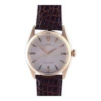 14K Gold Rolex Oyster Perpetual Wrist Watch