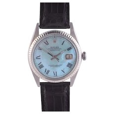 Rolex Datejust Wrist Watch with Custom Mother of Pearl Dial