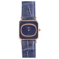 Patek Philippe Ladies Rare Blue Gold Wrist Watch