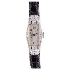 Birks Platinum Diamond Art Deco Ladies Wrist Watch