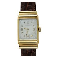 Mens Wrist Watch in 14 Karat Yellow Gold Case by IWC for Tiffany & Co.