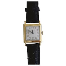 14 Karat Gold Art Deco Wrist Watch by J.E. Caldwell