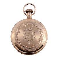 Elgin 14K Hunter Case Ladies Pocket Watch