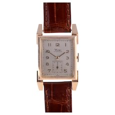 Wyler 14KY Gold Mens Wrist Watch