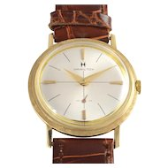 American 14K Gold Dress Style Wrist Watch by Hamilton