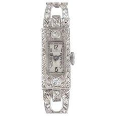 Art Deco Diamond Wrist Watch by Shreve & Co.