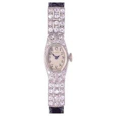 Tiffany and Co Ladies Platinum Diamond Wrist Watch