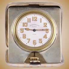 JE Caldwell Sterling Silver Travel Clock