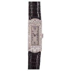 Audemars Piguet Platinum and Diamond Ladies Wrist Watch