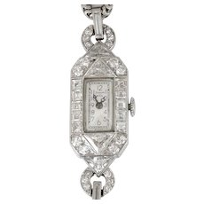 Ladies Diamond Art Deco Wrist Watch by Tiffany