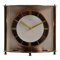 Kienzle Rare Bowed Glass Table Clock