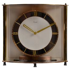Kienzle Rare Bowed Glass Table Clock