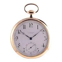 JW Benson 18K Gold Pocket Watch