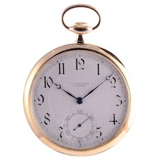 JW Benson 18K Gold Pocket Watch