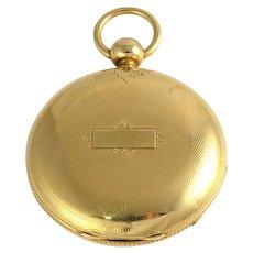 Swiss 18K Yellow Gold Pocket Watch by Jos Johnson Liverpool