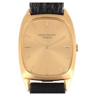 Swiss Mens 18K Yellow Gold Patek Philippe Wrist Watch