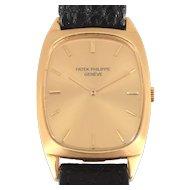 Swiss Mens 18K Yellow Gold Patek Philippe Wrist Watch