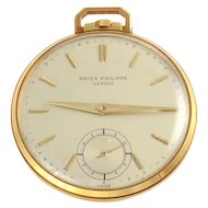 Swiss 18K Yellow Gold Pocket Watch by Patek Philippe