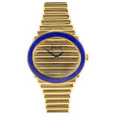Piaget 18K Gold and Lapis Ladies Wrist Watch
