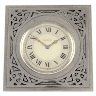 Shreve & Co Swiss Arts and Crafts Travel Alarm Clock