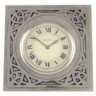 Shreve & Co Swiss Arts and Crafts Travel Alarm Clock