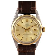 Rolex Datejust 18K Gold and Stainless Steel Wrist Watch