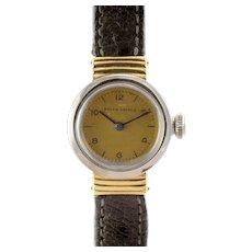 Rolex Oyster Gold Dial Ladies Wrist Watch
