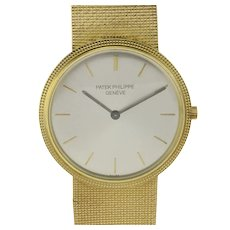 Patek Philippe Original Silver Dial 18K Gold Wrist Watch