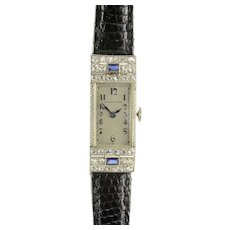 Longines Art Deco Diamond Ladies Wrist Watch