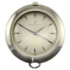 Eternamatic Stainless Steel Pocket Watch