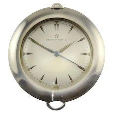Eternamatic Stainless Steel Pocket Watch